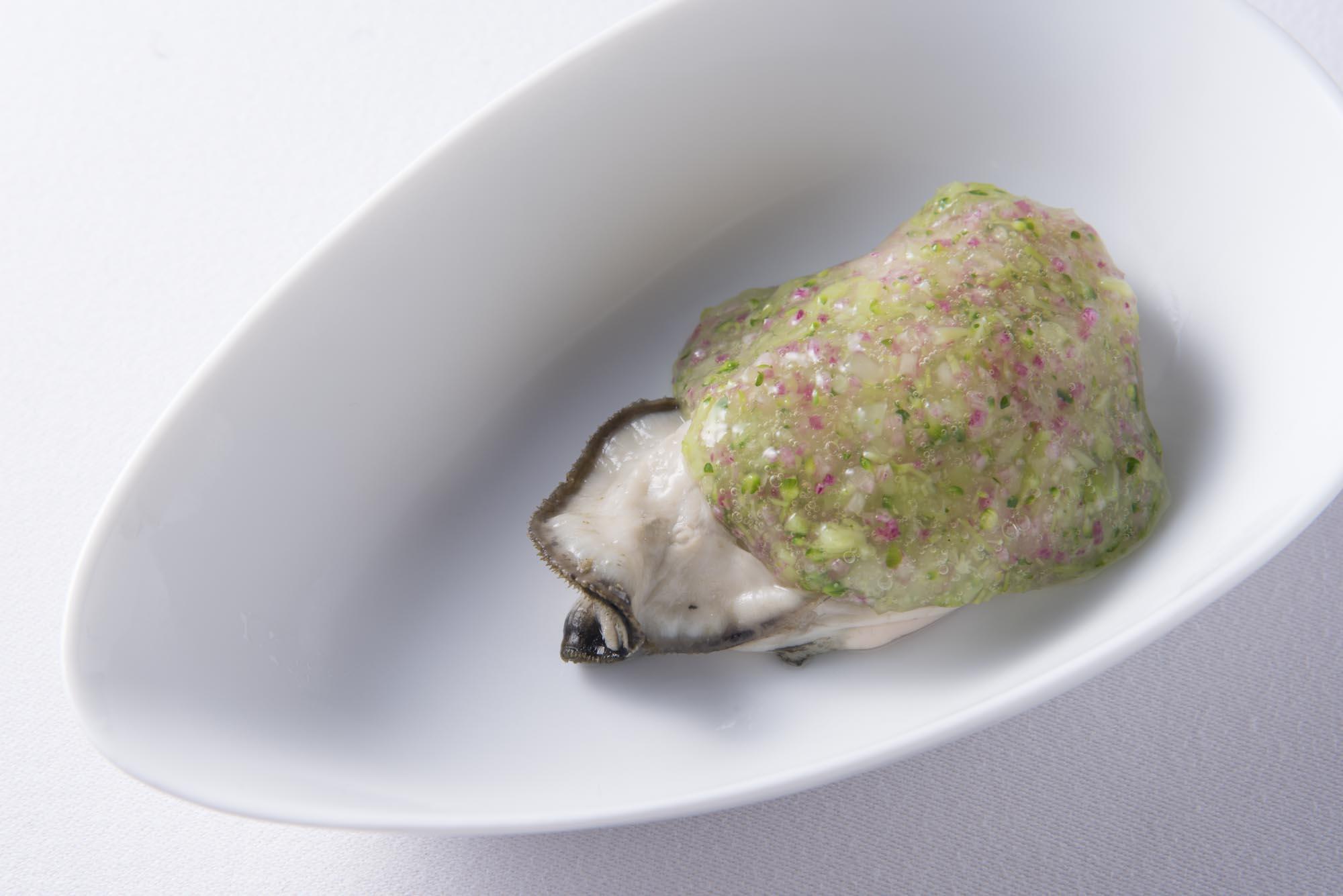 仙鳳趾産カキの海藻ジュレ